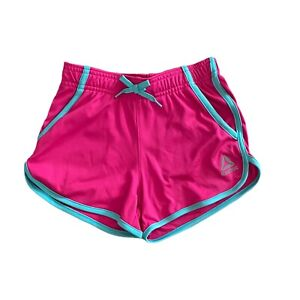 Reebok Youth Girls Pink & Turquoise Athletic Shorts - Size M - 8 / 10