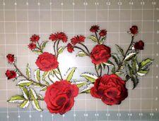 ROSE APLIQUE  FLOWER PATCH IRON