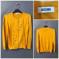 Moschino Women's Mustard Jumper UK 8 EUR 36 Cotton Ruffled
