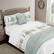 Dreamscene Bedding Love You Bed in a Bag Set With Pillowcases Mauve Double