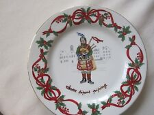 Noble Excellence 12 Days of Christmas Salad Plate -11 Pipers Piping