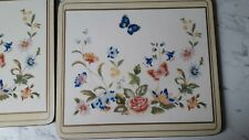 AYNSLEY COTTAGE GARDEN 6 x PLACE MATS CORKED BACK - BOXED & EXCELLENT CONDITION