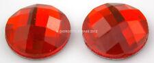 STRASS tondo tondi 8mm Rosso cabochon 12pz Termoadesivi hotfix adesivo pietra