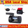 Mini 1080P Dual HD Car Dash Camera GPS DVR G-Sensor WDR HDMI Night Vision RC Cam