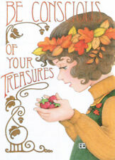 BE CONSCIOUS OF TREASURES-Handcrafted Fall Fridge Magnet-w/Mary Engelbreit art