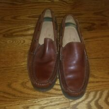 Boys brown leather Tommy Bahama loafers 7