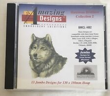 Amazing Designs Hautman Brothers Collection 2 Embroidery Card Wolves wolf Jumbo