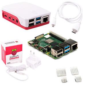 Raspberry Pi 4 Computer Modell B, 4GB  8GB RAM Starter Kit, weiß Bundle