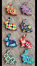 Pack of 8 mismatched coloured Rabbit Buttons