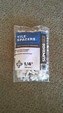 "Stone ceramic tile spacers 1/4"" professionally preferred 100 piece bag"