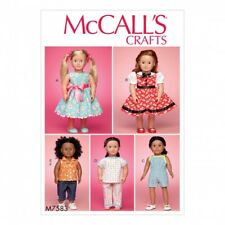 Free UK P&P - McCalls Craft Easy Sewing Pattern 7593 Play & Dress Up ...