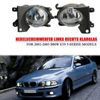 links rechts Nebelscheinwerfer Klarglas für 2001-2003 BMW E39 525i 528i 540i
