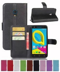 Wallet Leather Flip Card Case Cover For Vodafone Alcatel U5 4G Genuine AuSeller