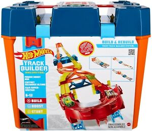 Hot Wheels GNJ01 Track Builder Unlimited Power Boost Box id Enhanced Play Set