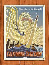 "TIN SIGN Walt Disney  ""California Screaming"" Vintage Ride Art Poster"