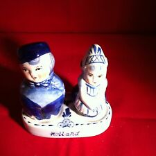 Dutch Delft Blue Porcelain Hand painted Pepper & Salt
