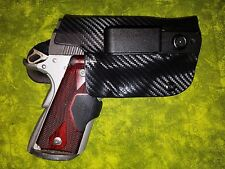 HOLSTER BLACK CARBON KYDEX Kimber MICRO 9mm w CRIMSON TRACE IWB Full Sweat Guard