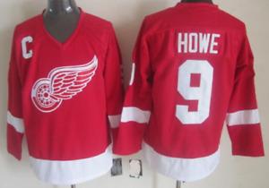Red Wings Red Gordie Howe Jersey M, L, XL, 2XL, 3XL
