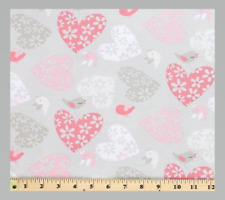 FREE SPIRIT SWEETHEART FABRIC Love Birds Posie heart material #116 100% cotton