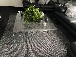 Modern clear Glass coffee table