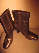 "WORTHINGTON Metallic Gold Ankle Boots Heels Women's size 9M 10.5"" tall 4"" heel"
