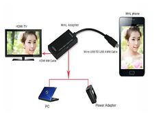 Mini Micro USB 2.0 MHL To HDMI Cable For Android For Samsung Galaxy S2 HD 1080P
