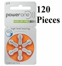 NEW 120 pcs Power One PowerOne Hearing Aid Batteries size P13 Expire Early 2021