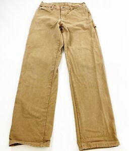 Dickies Relaxed Fit Canvas Pants Mens 30x34 Brown Camel