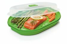 """Steamer   Progressive Microwave Fish and Vegetable Steamer  11"""" x7-3/4"""" x3""""T"""