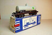 """WAGONS TRAIN HO : CITERNE """"BP"""" SUR BOGIES de HORNBY OCCASION (en boite 7250)"""