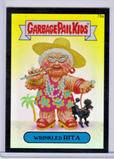 GARBAGE PAIL KIDS CHROME SERIES 2 GPK BLACK REFRACTOR 12/99 WRINKLED RITA 78A