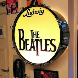 *The Beatles* Upcycled Bass Drum lamp