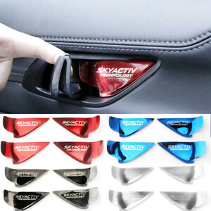 4 Steel Inner Door Bowl Handle Cover For Mazda 3 6 Axela Atenza CX5 CX-3 2017-19