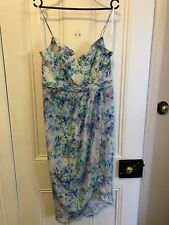 Forever New Silk Floral Maxi Dress Size 12 EUC