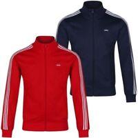 Adidas Originali Beckenbauer Og Giacca Tuta Navy e Rosso 3 Strisce Rétro UOMO