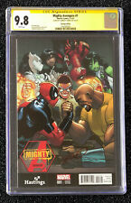 Mighty Avengers # 1 CGC SS 9.8 Ewing Ramos Hastings Variant Luke Cage Deadpool