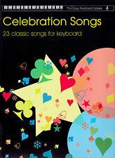 Celebration canzoni facile libreria di tastiera e voce diversi stili musicali LIBRO NUOVO