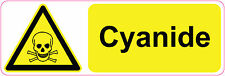CYANIDE health and safety signs/stickers danger, warning, first aid,