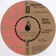 "[HOLLIES] ALLAN CLARKE ~ SIDESHOW / DON'T LET ME DOWN AGAIN ~ 1974 UK ""DEMO"" 7"""