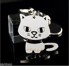 Adorable Spinning Cat Keychain Key Chain Ring Keyring Key Fob Funny Gift