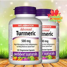 webber naturals® Advanced Turmeric 500 mg, Twin Pack(2 x120 vegetarian capsules)