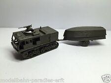Roco Minitanks us army chaînes tracteur m4 avec Boots remorque Olive (pc27)
