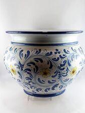 Portapiante vaso cachepot cestini fiori casa in ceramica di Caltagirone D.30 cm