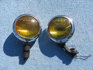 1930s 40s 50s GROTE 211 DRIVING FOG LIGHT & BRACKETS