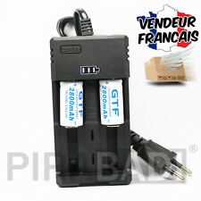 CHARGEUR RS-93 + 2 PILES ACCU RECHARGEABLE CR123A CR123 16340 3.7v 2800mAH