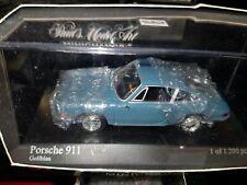 PORSCHE  911  BLEU   1964        MINICHAMPS    1/43