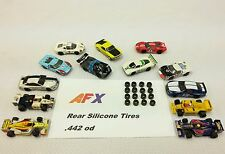 ☆16 Silicone Tires☆ For Afx Mega G Turbo Srt Tomy .442 Ho Slot Car Parts