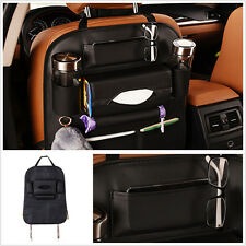 Waterproof PU Leather Car SUV Seat Back Bag Organizer Storage iPad Phone Pocket
