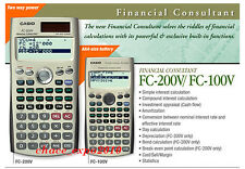 Casio Financial Calculator FC-200V (FC 200V/100V) Brand New ORIGINAL PACKING
