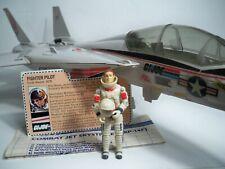 K1953791 SKYSTRIKER F-14 W/ ACE & BLUEPRINTS 100% COMPLETE GI JOE 1983 ORIGINAL
